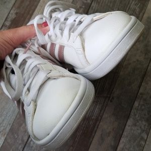 adidas Shoes - Adidas grand court 3 stripe rose gold sneakers 8